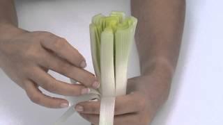 كيفية عمل زهرة من الكرات لتزين طبق الخضار