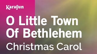Karaoke O Little Town Of Bethlehem - Christmas Carol *