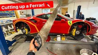 REBUILDING MY LIBERTY WALK WIDEBODY FERRARI BY CUTTING UP NEW 488!