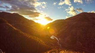 Mountain Canyon Sunset Time Lapse