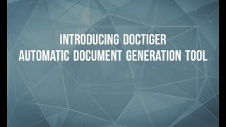 Introduction To Doctiger