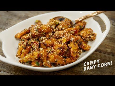 Crispy Baby Corn Recipe – Restaurant Style Chinese Babycorn Recipes – CookingShooking
