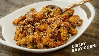 Crispy Baby Corn Recipe - Restaurant Style Chinese Babycorn Recipes - CookingShooking