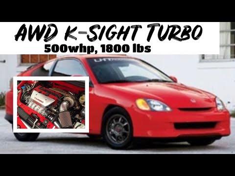 Turbo K20 AWD into a Honda Insight