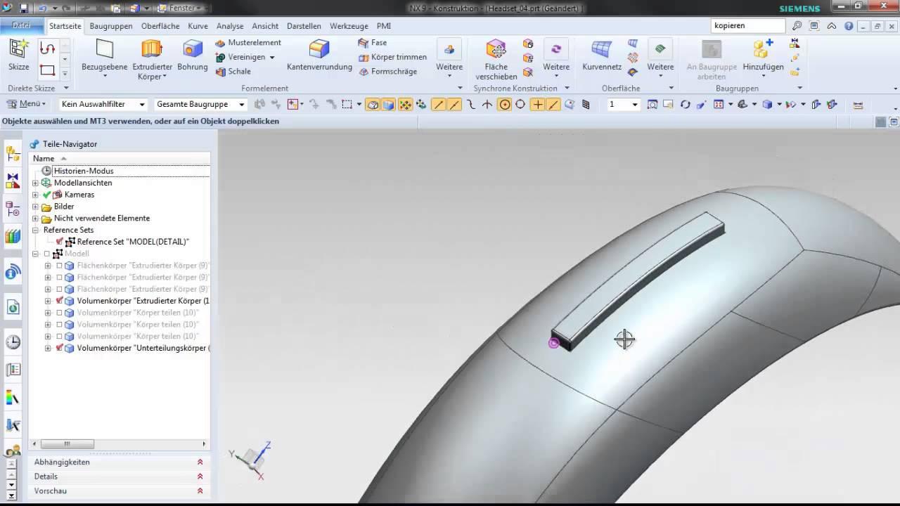 Vorschaubild: NX: Freiform- und Flächendesign am Beispiel eines Headsets