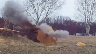 Black Powder Log Splitting