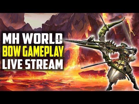 🔴 Monster Hunter World | BOW Gameplay | Nergigante Farming! PS4 Gameplay 1080p