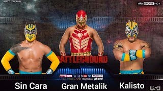 WWE 2K18 - [What if] Sin Cara vs. Gran Metalik vs. Kalisto(Simulation)