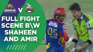 PSL2021 | Full Fight Scene Between Shaheen And Amir | Lahore vs Karachi | Match 11 | MG2T