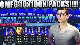 FIFA 16 PACK OPENING DEUTSCH  FIFA 16 ULTIMATE TEAM  OMFG 10x100K TOTY PACKS POGBA & CO