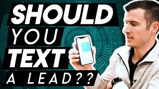 Should You Text An Insurance Lead?