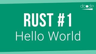 Rust Programming Tutorial #1 - Hello World | Getting Started with Rust