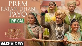 Prem Ratan Dhan Payo Full Song with LYRICS - YouTube