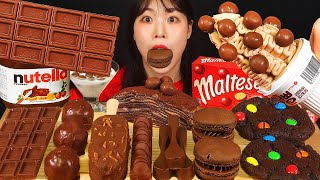 ASMR MUKBANG| 디저트 초콜릿 & 아이스크림 먹방 & 레시피 CHOCOLATE DESSERT ICE CREAM EATING