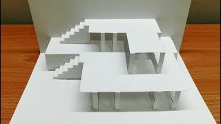3d House | Pop Up House Card | Origami Architecture | Kirigami | 3d房屋卡片#10