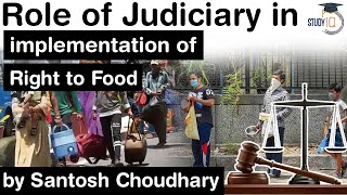 Role of Judiciary in implementation of Right to Food amid Covid Pandemic - Haryana Judicial Services