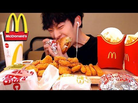 Mukbang Hamburger🍔|맥도날드 먹방|빅맥,상하이치킨,에그불고기,맥너겟20조각,치즈스틱| EATING SHOW [SIO ASMR 시오]