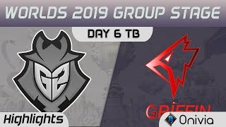 G2 vs GRF Tiebreaker Highlights Worlds 2019 Main Event Group Stage G2 Esports vs Griffin by Onivia