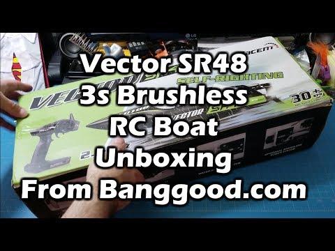 Volantex V797-3 Vector SR48 Brushless 3s RC Boat Unboxing