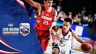 Philippines v Lebanon - Full Game - FIBA U18 Asian Championship 2018