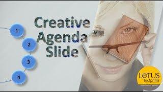 PowerPoint Tricks: Creative Agenda Slide in Powerpoint Presentation