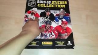Коллекция наклеек стикеров НХЛ 2015-2016 г.