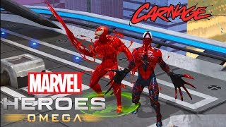 Marvel Heroes Omega Carnage and Spider-Carnage Gameplay with MAXIMUM CARNAGE Ultimate (PC)