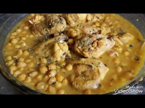 Нут с курицей. Chickpea with chicken