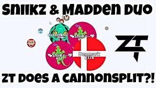 Agar.io - ƵŦ Does A Cannon Split? - Sniikz & Madden Duo