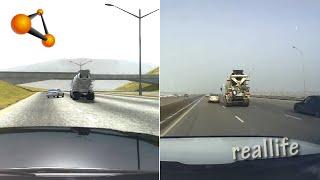 BeamNG.drive VS Real Life (Dash Cam Crashes Comparison)