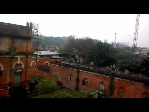 Kolkata Docks from Circular Rail. Diffferent Shunters at end.