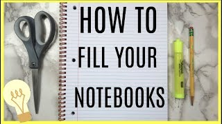 5 Ways to Fill Your Empty Notebooks! Creative Journal Ideas