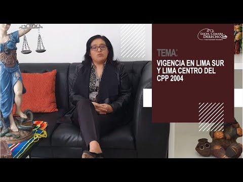 VIGENCIA DEL CPP 2004 EN LIMA SUR Y LIMA CENTRO  - Luces Cámara Derecho 180
