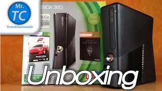 preview picture of video 'Microsoft XBOX 360 Slim 250 GB schwarz Unboxing HD (Deutsch/German) - MrTechCommander'