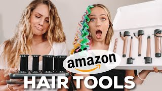 Testing out MORE weird hair tools from AMAZON ... this took a turn - Kayley Melissa