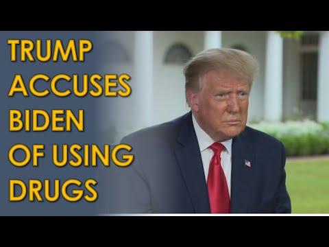 Donald Trump ACCUSES Joe Biden of using Performance Enhancing Drugs in Judge Jeanine Interview