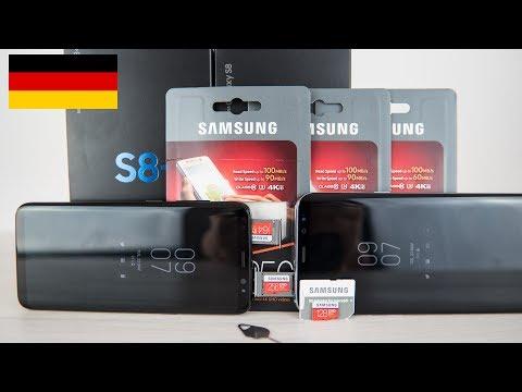 Samsung EVO Plus 2017 MicroSD Karten mit dem Galaxy S8 im Test