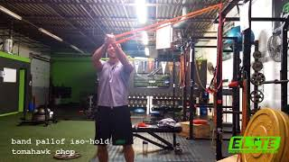 Band Pallof Iso-Hold Tomahawk Chop - Core Stability