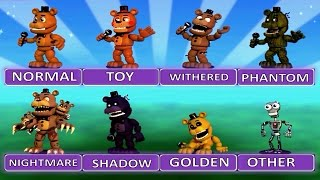 """Five Nights at Freddy's World EXTRA MENU """"All Characters"""""""