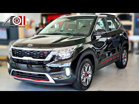 2020 Kia Seltos GTK Black Colour   New On Road Price List   Mileage   Features   Specs   Interior