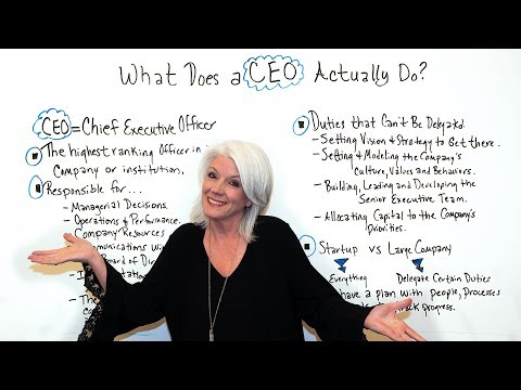 What Does a CEO Actually Do? - Project Management Training ...