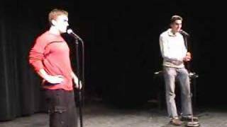 Adam and Andrew  Live - Emo Kid  + intro (12-02-06)