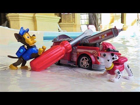 Paw Patrol Video für Kinder. Zuma braucht Hilfe. Spaß mit Spielzeugen
