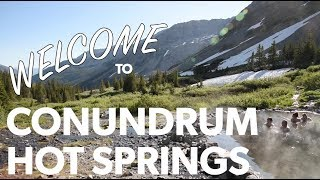 Some information on Conundrum Hot Springs.