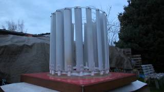 homemade Vertical Axis Wind Turbine (detailed view of the rotor