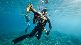 Spearfishing Giant Lobster and Fish in the Ocean! (Catch n' Cook)