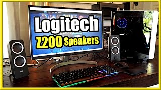 Logitech Z200 10W PC Speakers Unboxing and Setup! (Best Budget Speakers?)
