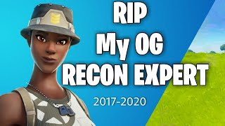 Fortnite RELEASED My Rarest Skin The Recon Expert...