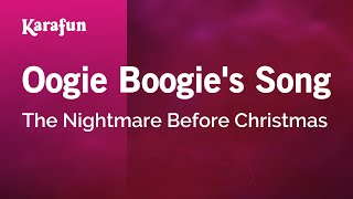 Karaoke Oogie Boogie's Song - The Nightmare Before Christmas *