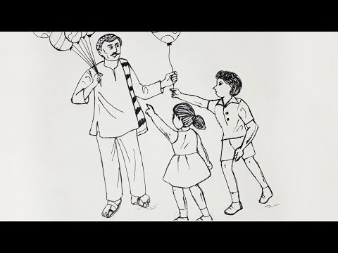 Download How To Draw A Balloon Man Step By Step Very Easy Video 3GP